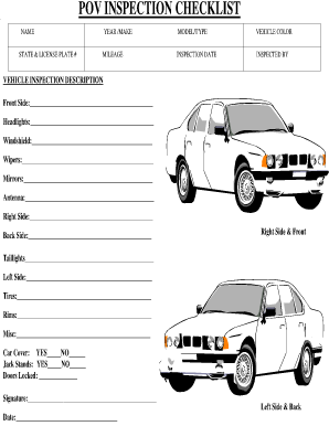 Army Pov Inspection Fill Online Printable Fillable Blank Pdffiller