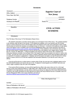 Legal complaint template word forms fillable printable samples sample of completed summons for middlesex superior court 2012 form altavistaventures Gallery