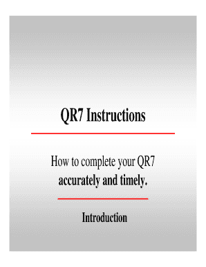 How To Submit Qr7 Online - Fill Online, Printable, Fillable, Blank ...