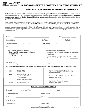 Dealer Reassignment Form - Fill Online, Printable, Fillable, Blank ...
