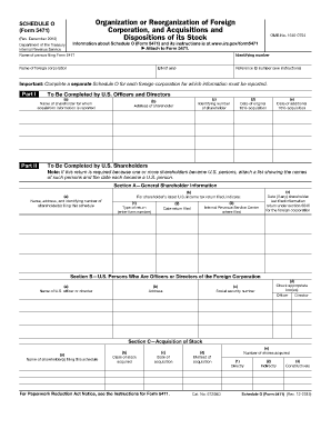 Form 5471 Schedule O 2012 Instructions - Fill Online, Printable ...