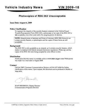 Dmv Form 262 - Fill Online, Printable, Fillable, Blank | PDFfiller