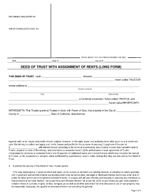 Sample Deed Of Trust Forms and Templates - Fillable & Printable ...