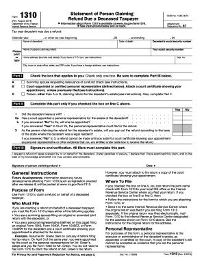 Comprehensive image within irs form 1310 printable