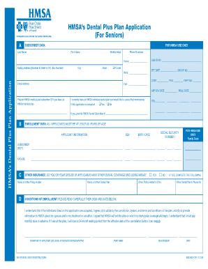 Hmsa Medicaldental Plan Enrollment Form Writable - Fill Online ...