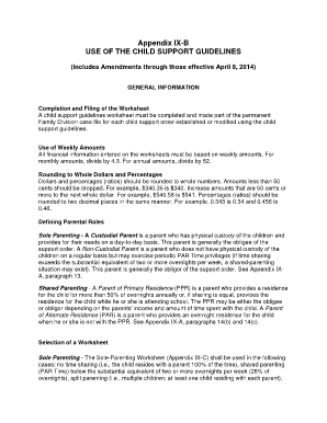 Child support guidelines shared parenting worksheet new jersey ...