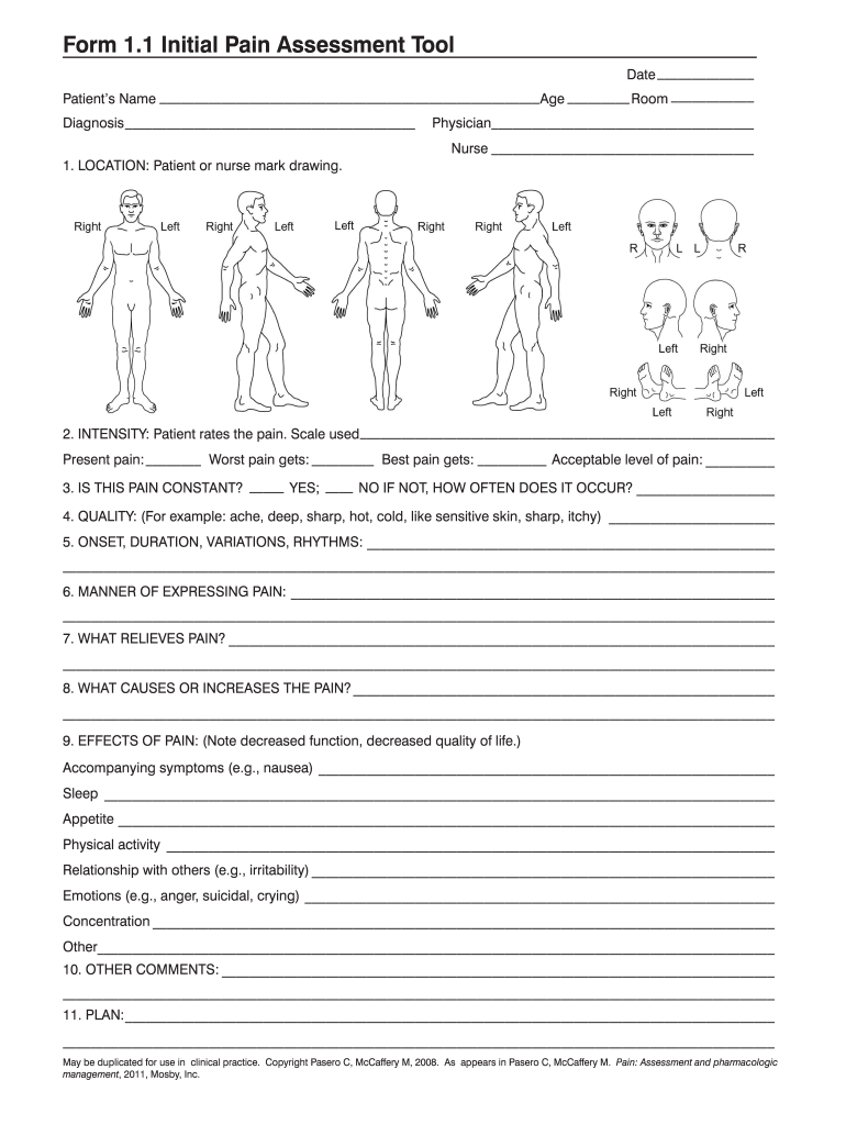 graphic regarding Printable Skin Assessment Form named First Soreness Examination Device - Fill On the web, Printable