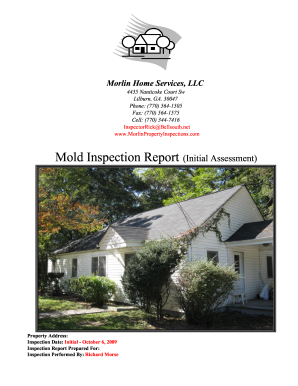 mold inspection template form