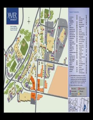 Fillable Online Xavier Campus Map Xavier University Xavier Fax