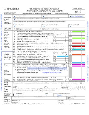 Fillable Online gvsu Form 1040NR-EZ - gvsu Fax Email Print - PDFfiller