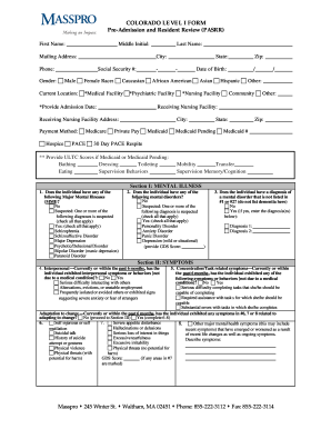 Colorado Pasrr Form - Fill Online, Printable, Fillable, Blank ...