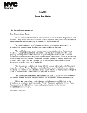New Landlord Introduction Letter Sample from www.pdffiller.com