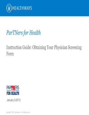 Blank Partners For Health Screening Form - Fill Online, Printable ...