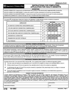 Va Form 10 10ezr Online 28 Images 2009 Form Va 10 10ez Fill