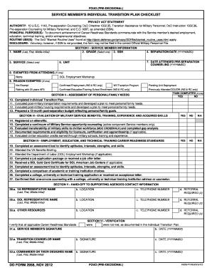 2012 Form DD 2958 Fill Online, Printable, Fillable, Blank - PDFfiller