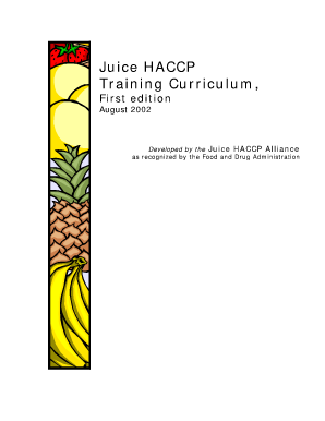 Fillable Online iit Juice HACCP Training Curriculum ...