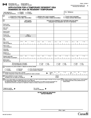 100110280 Application Form To Apply For Canada Visa on