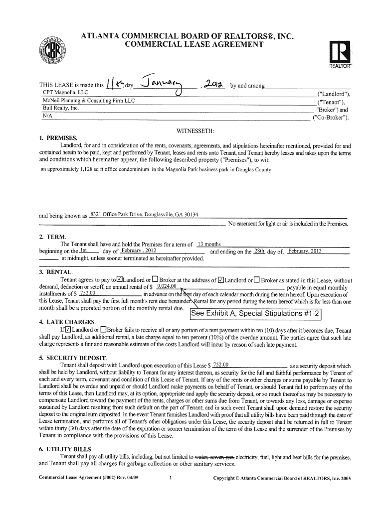 Sc Lease Agreement Fill Online Printable Fillable Blank