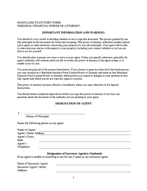 picture relating to Maryland Power of Attorney Form Free Printable called Maryland Statutory Kind Lawyer - Fill On the net, Printable