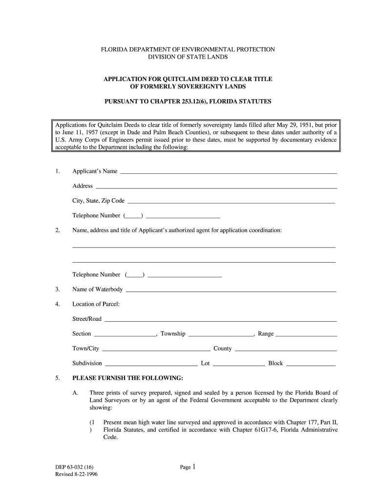 quick claim deed form for florida  Blank Quit Claim Deed Form Florida - Fill Online, Printable ...
