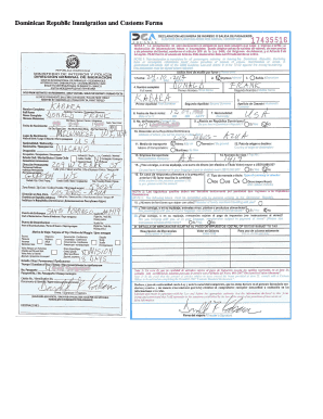 Dominican Republic Customs And Immigration Forms - Fill Online ...