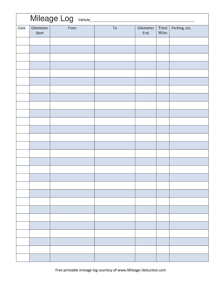 Mileage Log - Fill Online, Printable, Fillable, Blank ...