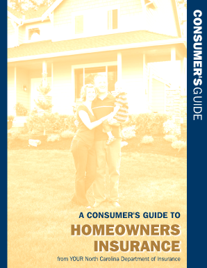 fillable online consumer 39 s guide to homeowner 39 s insurance north carolina fax email print. Black Bedroom Furniture Sets. Home Design Ideas