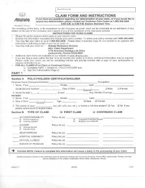 Fillable Online hccfl Allstate Claim Form - hccfl Fax Email Print ...