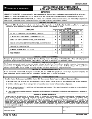 1998 Form VA 10-10EZ Fill Online, Printable, Fillable, Blank ...