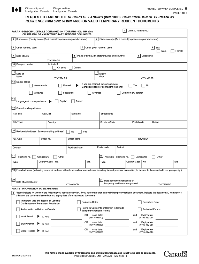 Canada Immigration Application Form Pdf Fill Online Printable Fillable Blank Pdffiller