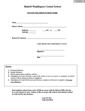 Fake Doctors Excuse - Fill Online, Printable, Fillable, Blank ...