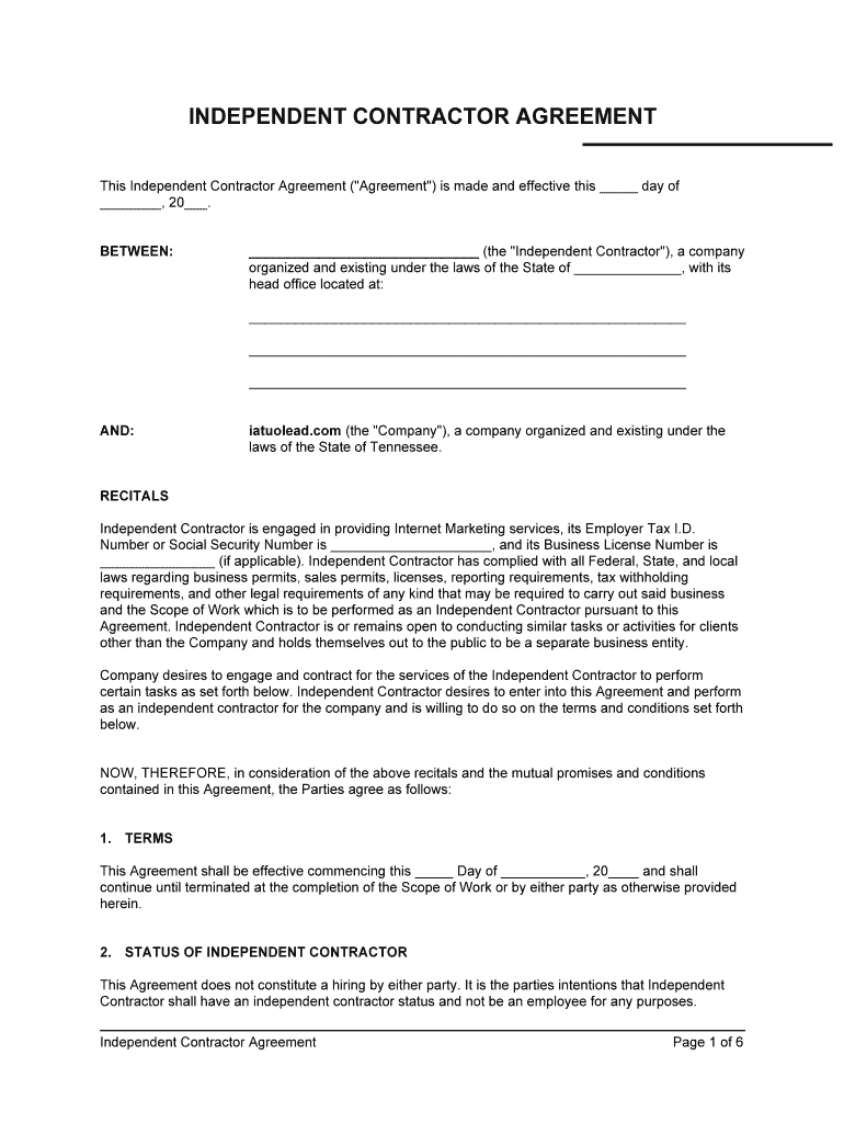 Contract Agreement Form Fill Online Printable Fillable