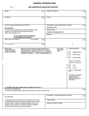 dangerous goods certificate template - hazardous declaration form