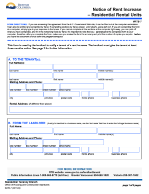 computer fillable rent increase form