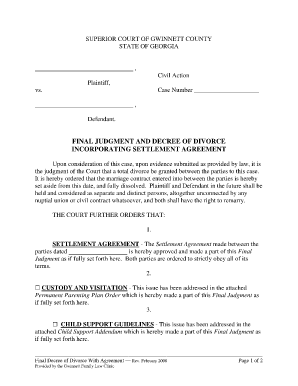 Judgement Settlement Letter Example Fill Online Printable