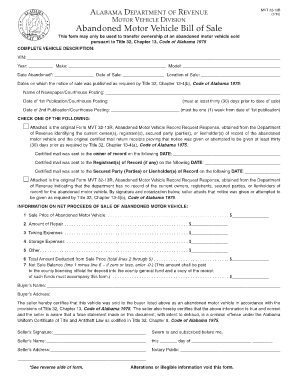 bill of sale alabama form
