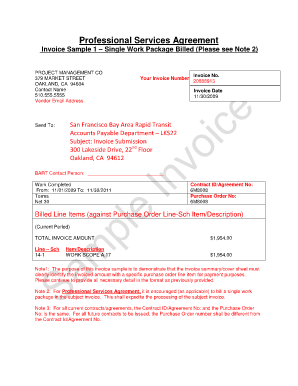 pdffiller service invoice form