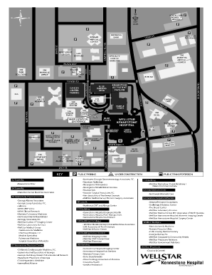 Kennestone Hospital Map Map Of Kennestone Hospital   Fill Online, Printable, Fillable