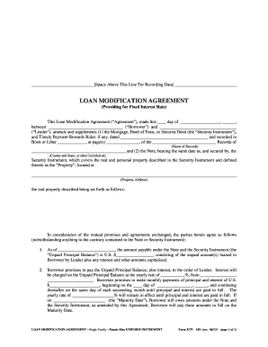 loan modification agreement 2012  form