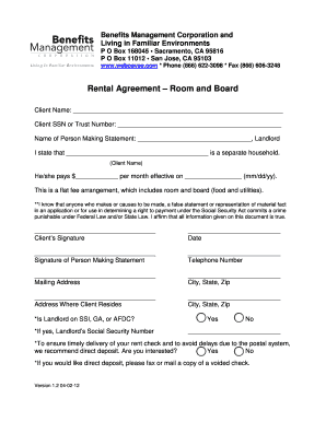 13 Printable Room Rental Agreement California Forms And