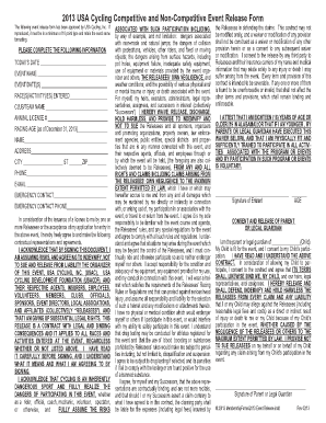 usa cycling waiver form