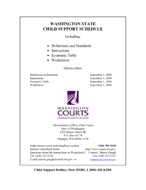 Printables Child Support Worksheet Washington washington state child support worksheet plustheapp fillable form fill online
