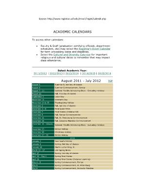 Usf Registrar Calendar.Fillable Online Usfsm Academic Calendar Usfsm Fax Email Print