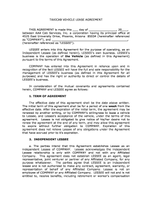 26 Printable Vehicle Lease Agreement Forms And Templates