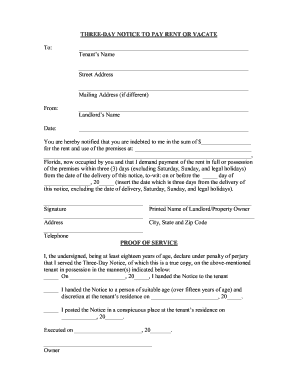 notice to pay rent or quit template - bill of sale form texas eviction notice template