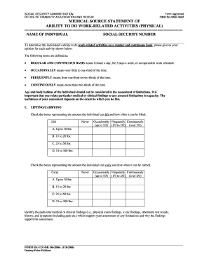 ssa fillable form 0960 0662