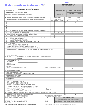 Nsf 1030 Form Fill Online Printable Fillable Blank Pdffiller