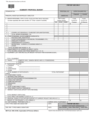 budget proposal form