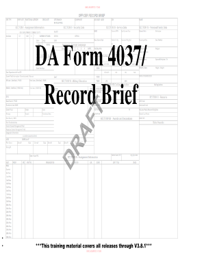 Officer record brief pdf fill online, printable, fillable, blank.