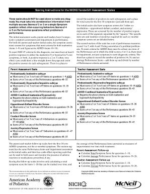 Vanderbilt Scores Assessment - Fill Online, Printable, Fillable ...